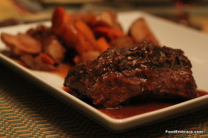 Chuck roast with root veggies