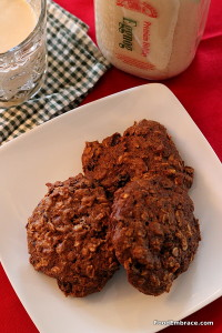Eggnog Oatmeal Cookies with Rum Raisins