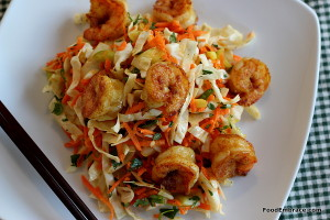 Curry Cabbage Slaw with Curry Shrimp