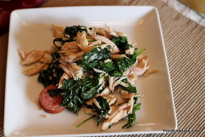 Chicken and spinach