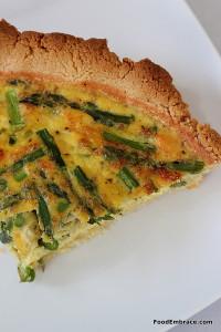 GF asparagus quiche