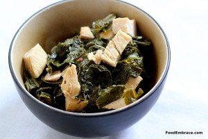 Turkey and collard greens