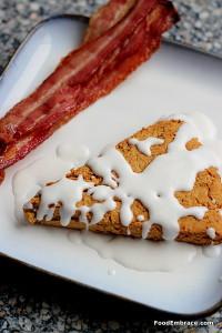 Grain free scones and bacon