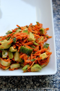 Avocado and carrot salad