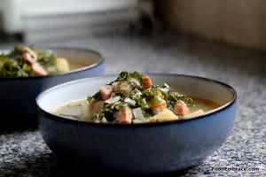 Potato, sausage, and kale soup.
