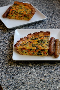 quiche and sausage