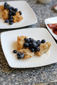Grain free scone with blueberries
