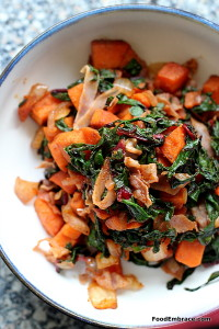 Sweet potato and chard