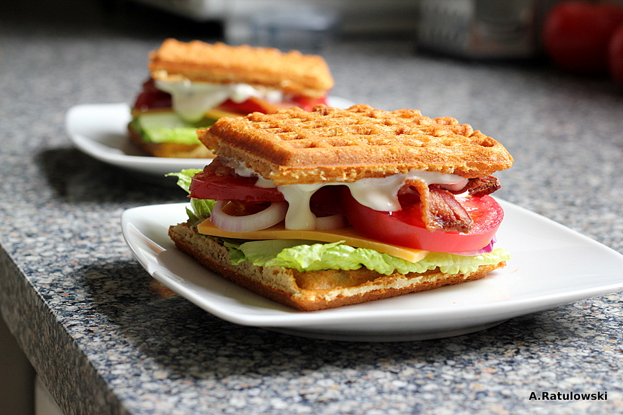BLT on Grain Free Waffles