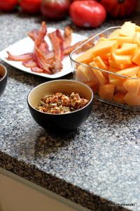 Granola and bacon