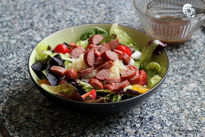 hot dog salad