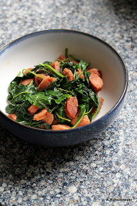 baby kale and sausage