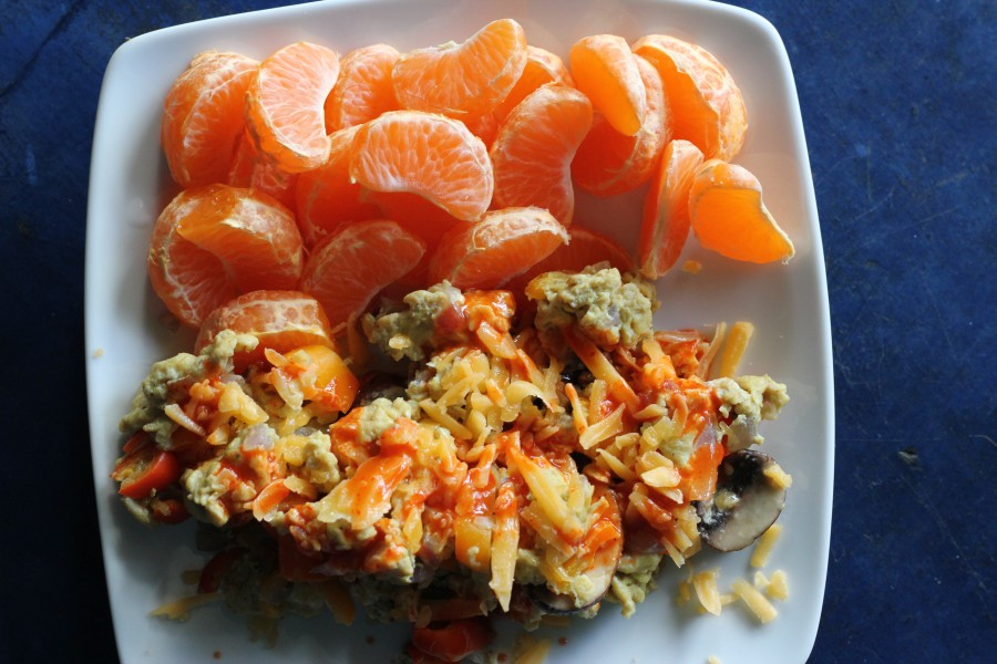 Scramble and mandarins