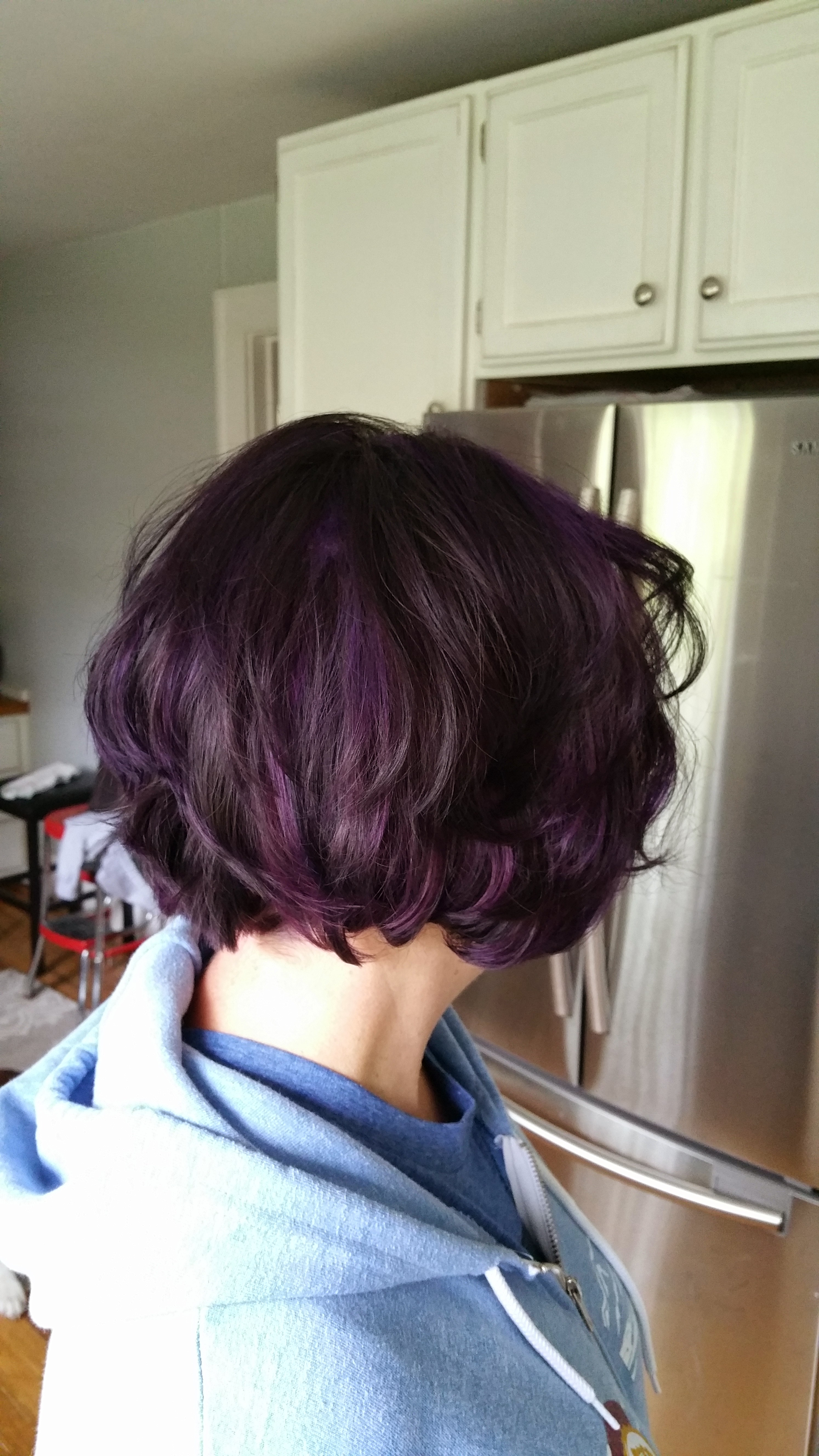 Short purple hair