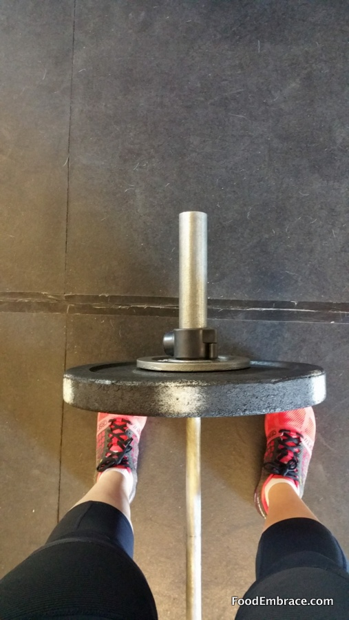 barbell and legs