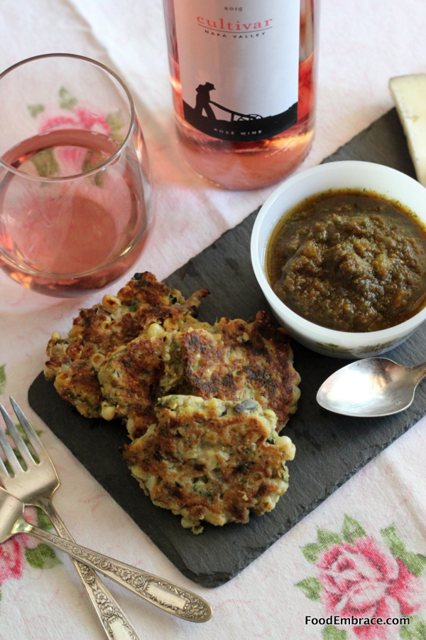 Hatch Green Chili and Corn Fritters
