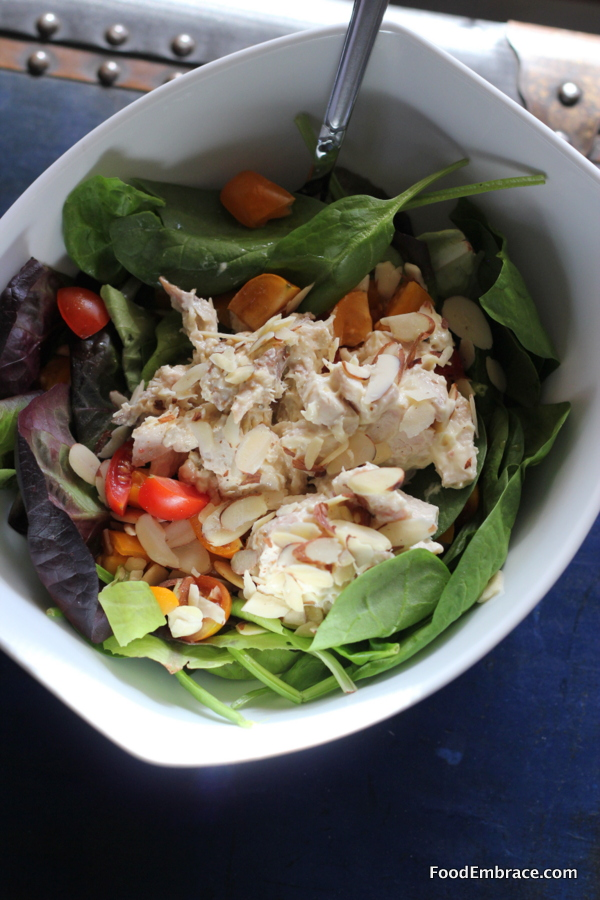 Chicken Salad on Baby Greens