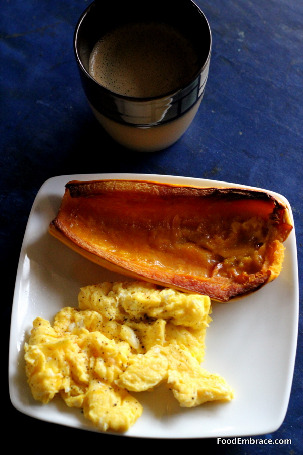 Scrambled Eggs and Delicata Squash