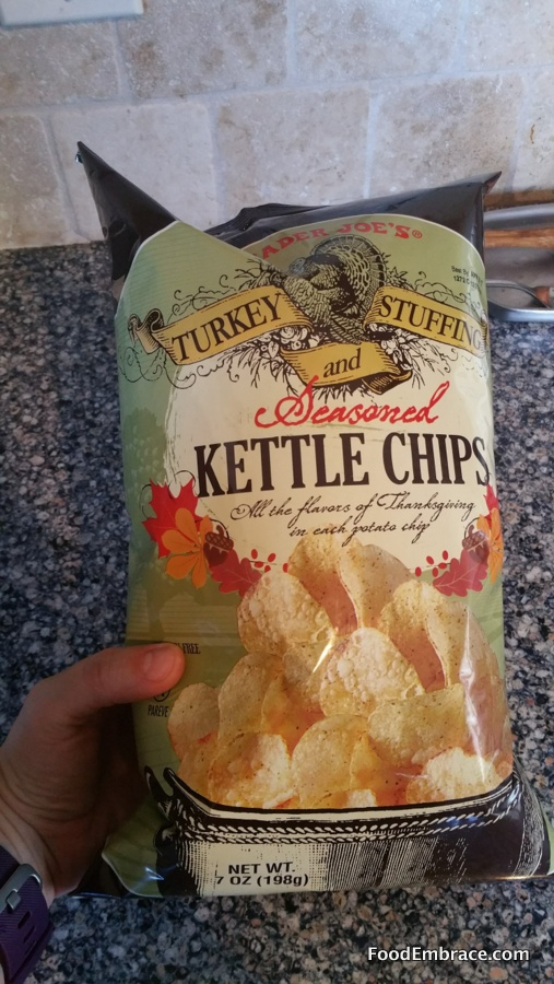 Trader Joe's Turkey and Stuffing Kettle Chips