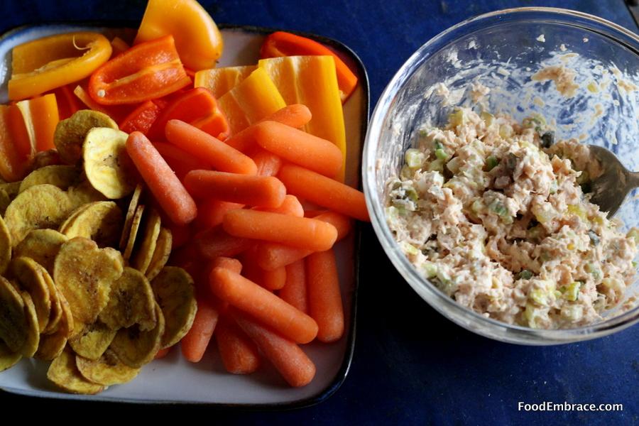 Tuna Salad and Snacks