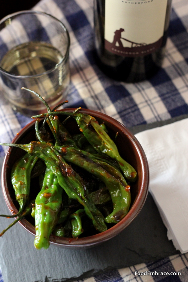 Sweet Smoky Shishito Peppers