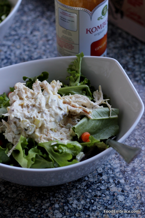 Chicken salad and mixed greens