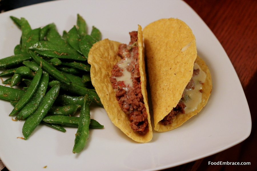 Tacos and sugar peas