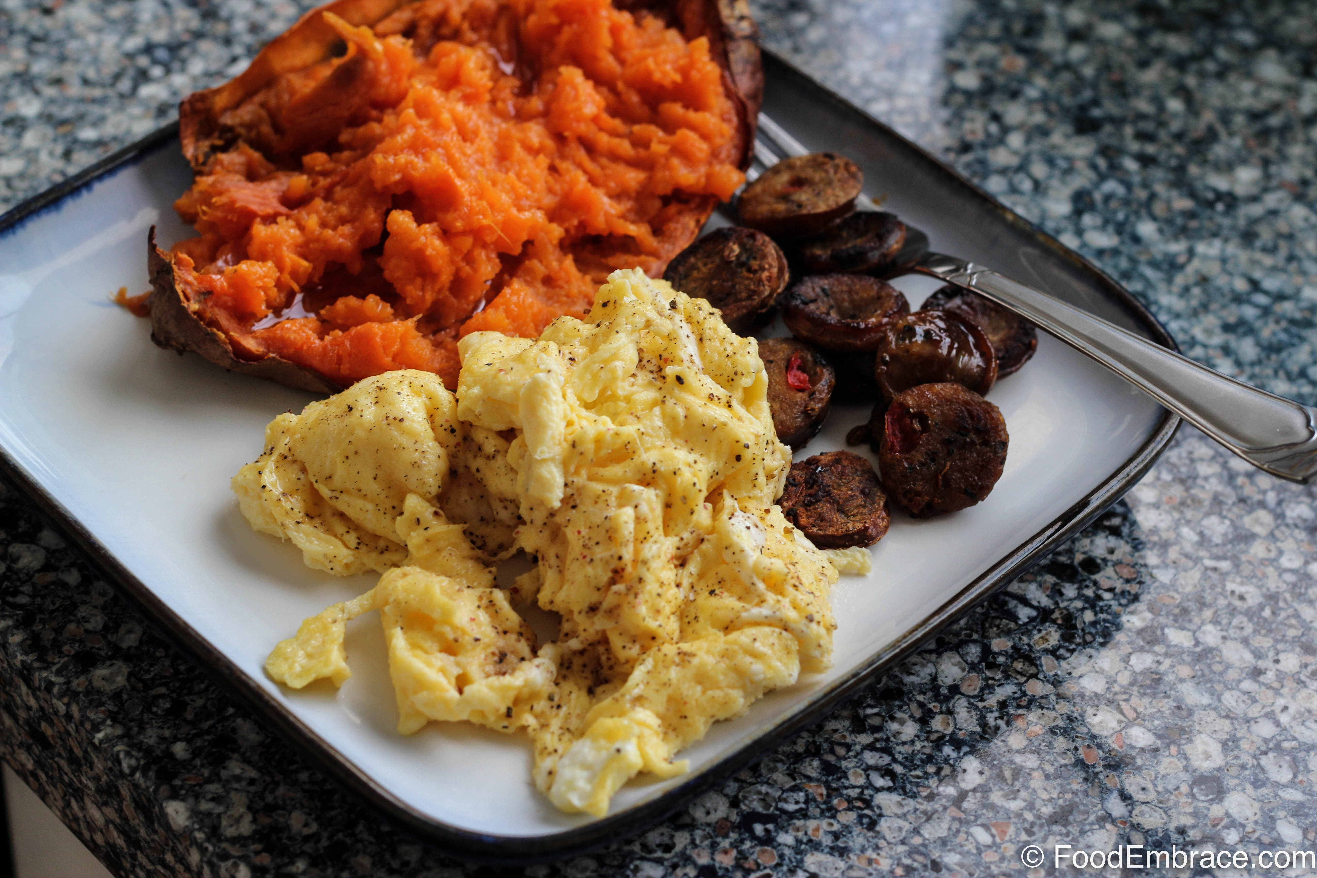Eggs, Sweet Potato, Sausage