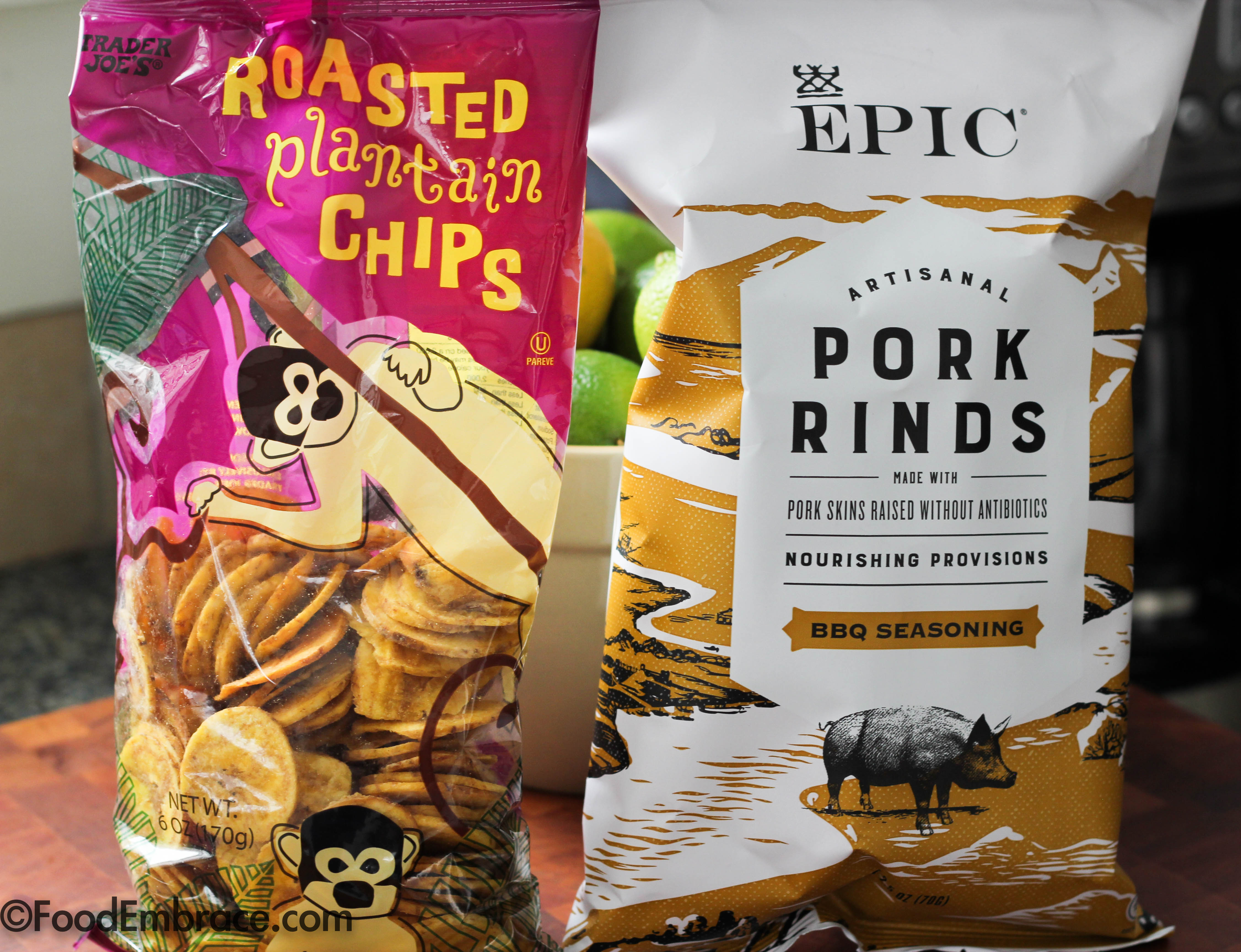 Plantain Chips and Pork Rinds