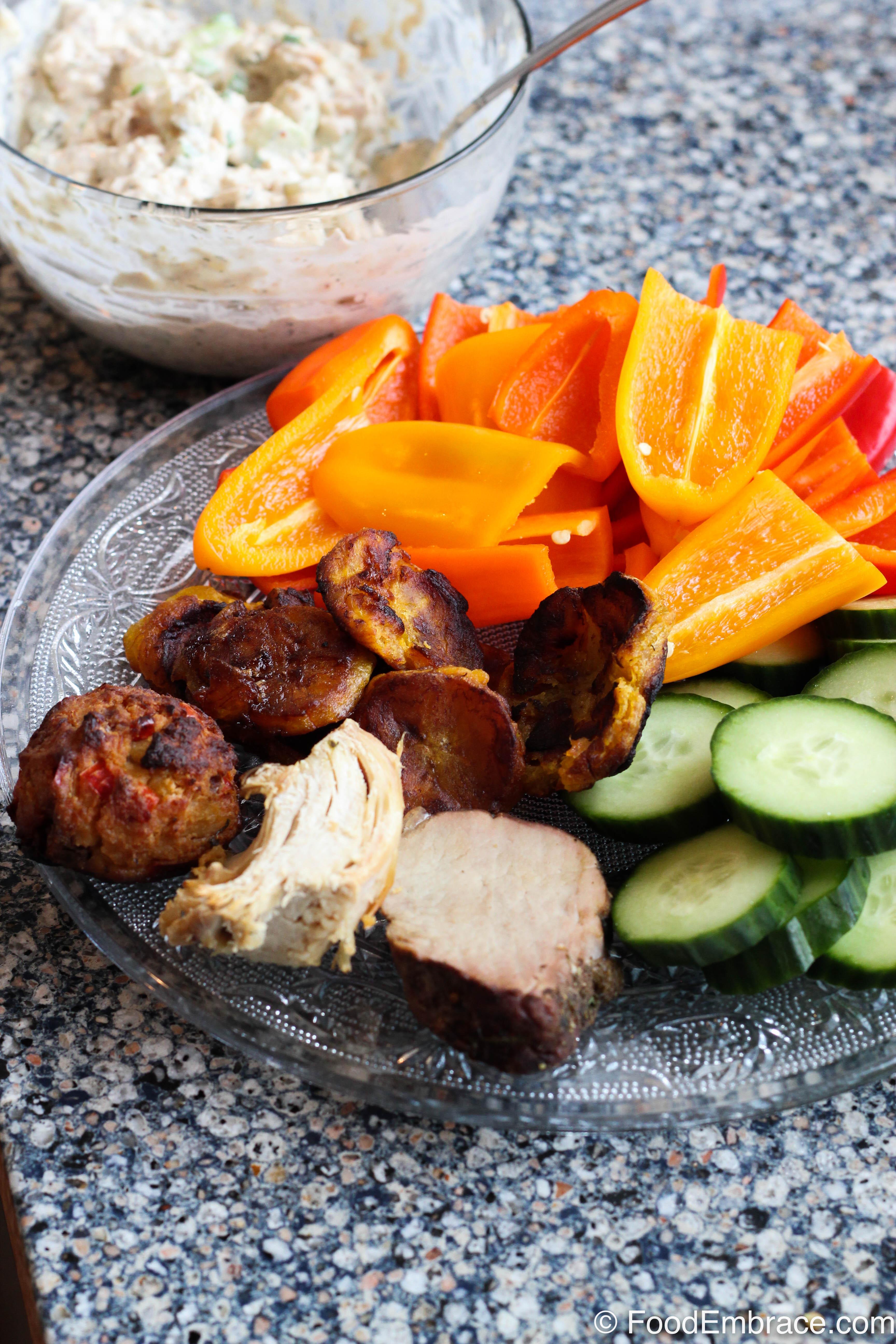 Tuna salad, random snack plate