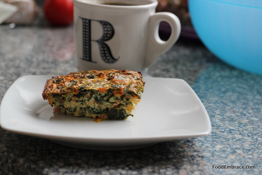 Veggie Frittata and Coffee