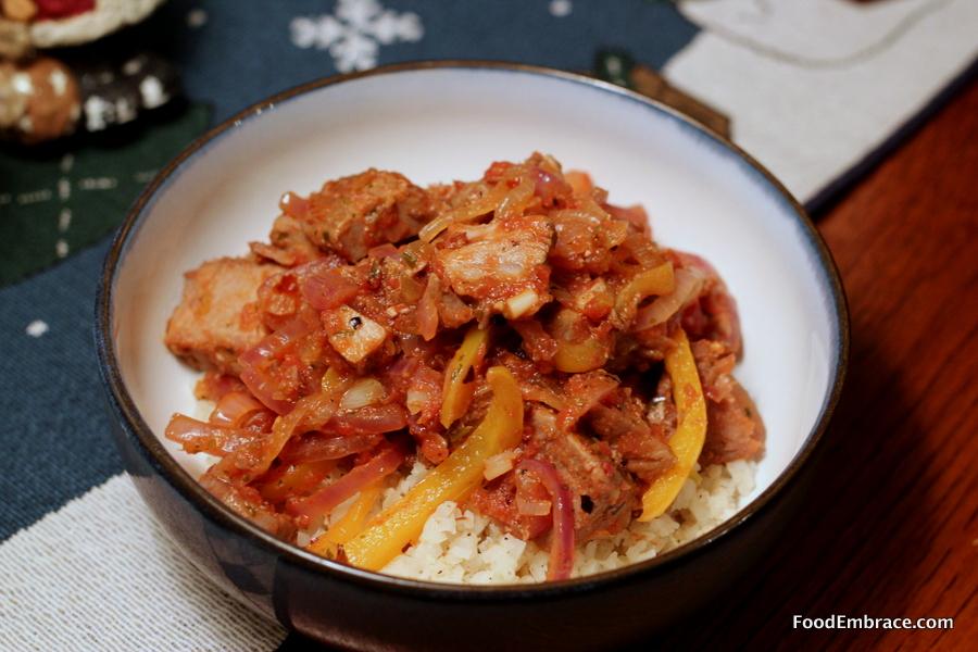 Pork taco bowl