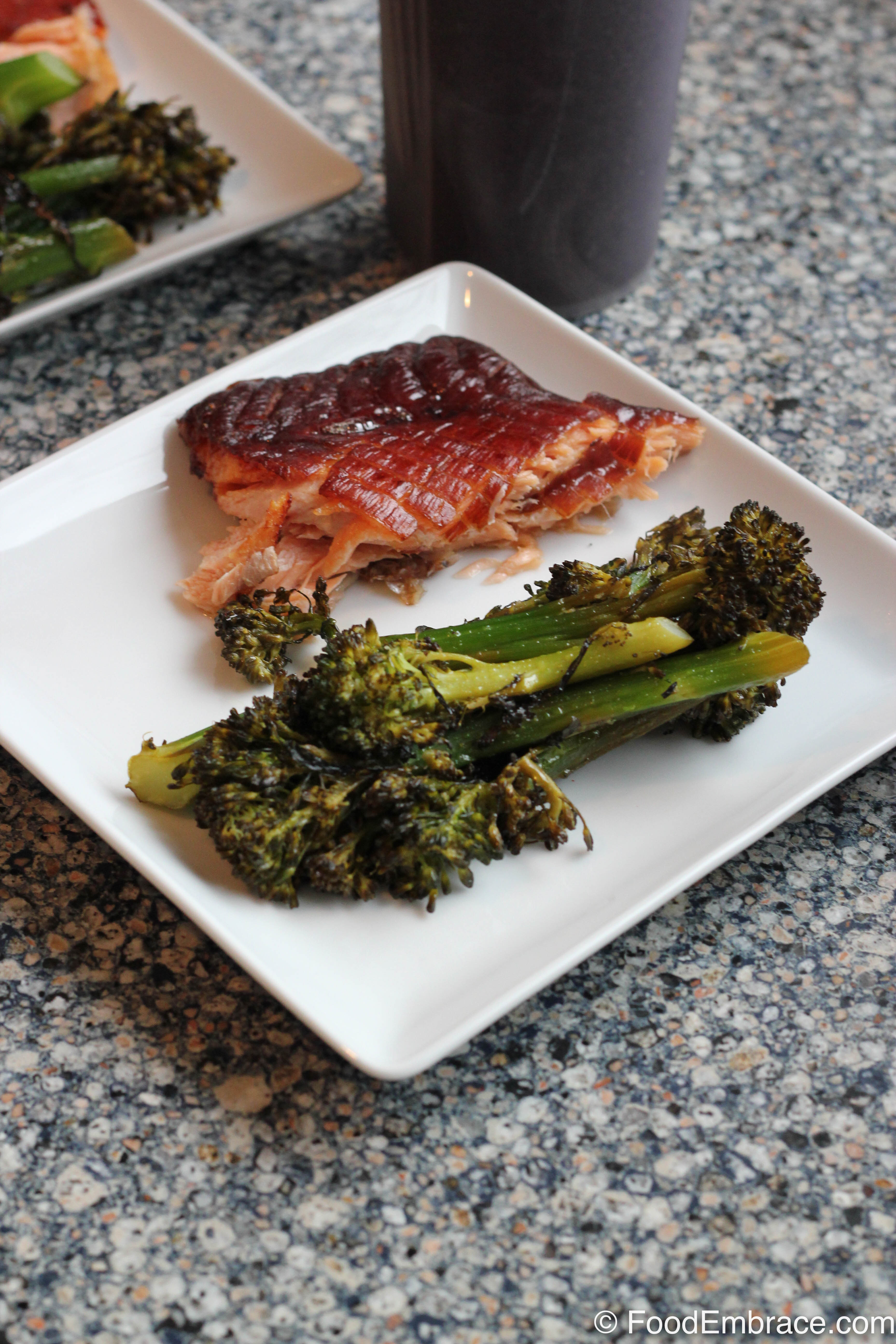 Smoked salmon and broccolini